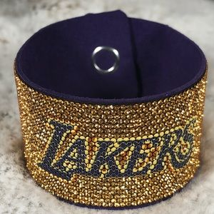 LAKERS  Swarovski Crystal Gold Bracelet